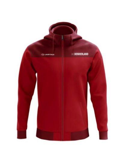 ac Denderland hoodie met zipper rood jartazi bari